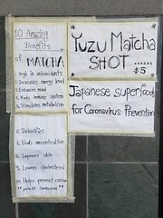 Matcha prevents coronavirus?