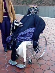 Monster in wheelchair