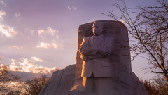 Dr. King Memorial Bathed in the Setting Sun