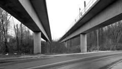 Metro tracks over Cabin Branch Road