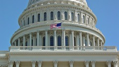 Flag flying over US Capitol [02]