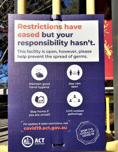Coronavirus Chronicle: Playground notice, Yarralumla, ACT