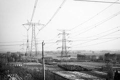 shot from a train, China