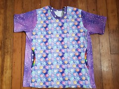 Space macaron birthday shirt