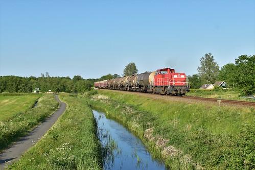 🇳🇱 DB Cargo 6454 + trein 61300 te Feanwâldsterwâl