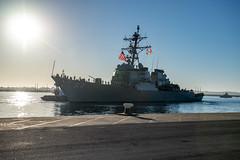 USS Carney (DDG 64) departs Naval Station Rota, Spain.