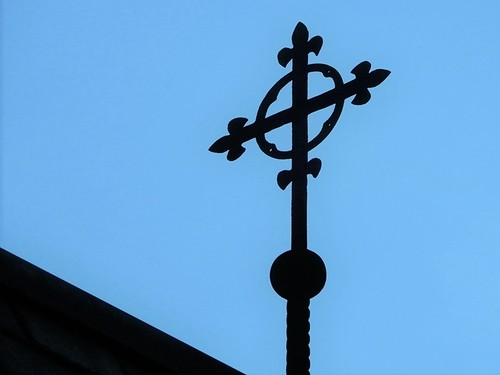 Cross on Roof of All Saints Episcopal Church - Photo by STEVEN CHATEAUNEUF - Taken On June 28, 2020 - Edited On June 29, 2020