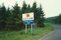 Scotland Border at Myredykes, June 1990