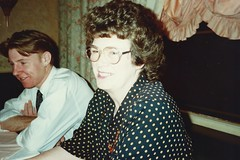 Birthday meal at La Bagatelle, Brougham Pl, Nov 1990