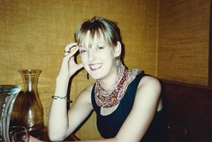 Lesley, Birthday Meal at the Pizzarama, Leith Walk, Nov 1990
