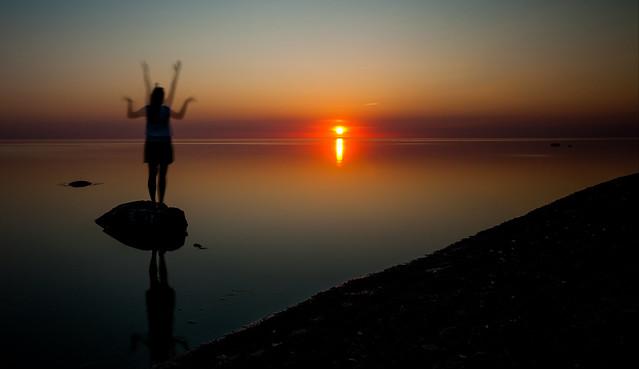 Sunset in Kuiviži
