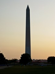 The Washington Monument at sunset