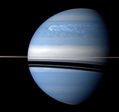 Saturn - nIR Polarized False Color - February 25 2011