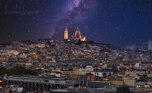 Stars and lights @ the Sacre Coeur.