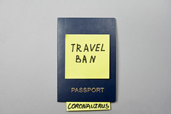 Travel ban due to coronavirus