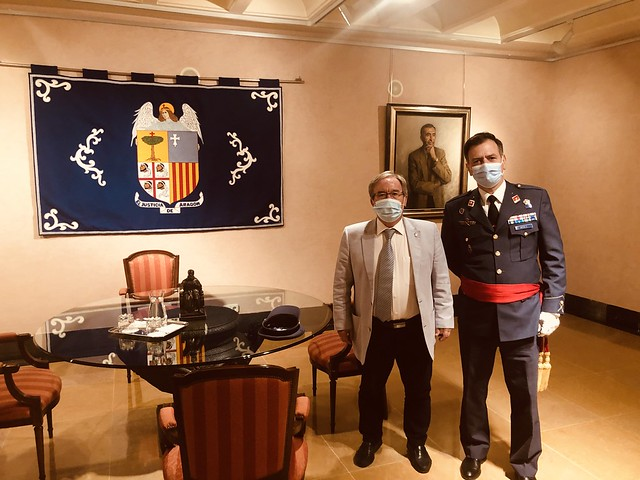 Visita del nuevo General Jefe de la Base Aérea de Zaragoza