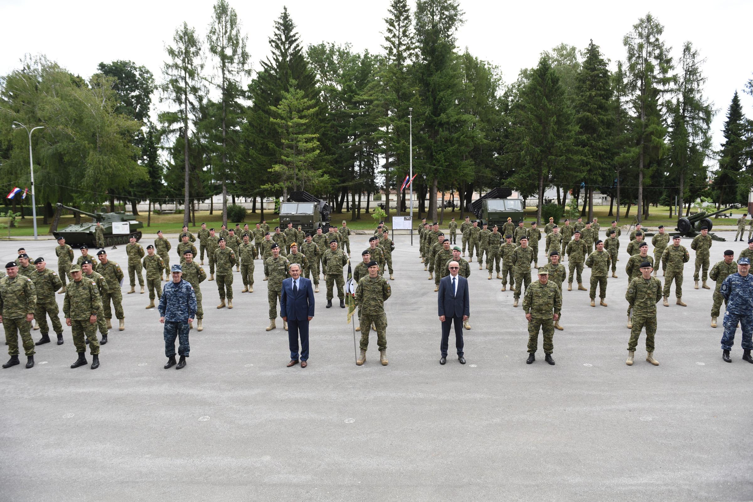 Svečani doček 5. HRVCON-a iz NATO aktivnosti eFP u Poljskoj
