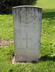 All Saints' Church, High Roding, Essex, England - graveyard war grave