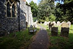 All Saints Church Stourmouth Kent England ~ south path around nave and chancel