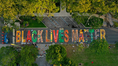 Black Lives Matter Street Mural St. Petersburg Florida