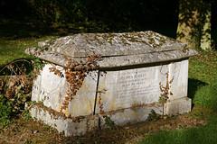 Arkesden Church of St Mary churchyard table tomb, Essex, England