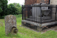 All Saints Church, Nazeing, Essex, England ~ churchyard fenced table tomb