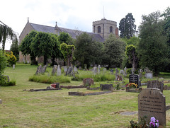 Church of Ss Mary & Lawrence - church and churchyard from north-west
