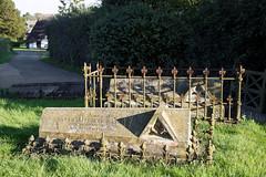Church of John the Baptist churchyard Langley Essex England