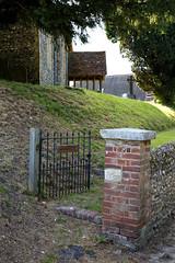 All Saint's Church Chillenden Kent England - gate and gate post