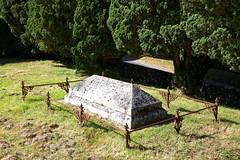 All Saint's Church Chillenden Kent England - churchyard fenced tomb