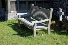 All Saint's Church Chillenden Kent England - churchyard bench