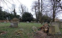 All Saints Church at Epping Upland - graveyard at the south