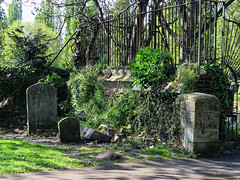 All Hallows Church Tottenham London England - churchyard north-west corner 2