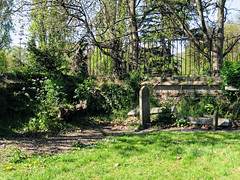 All Hallows Church Tottenham London England - churchyard north-west corner