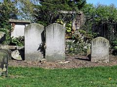 All Hallows Church Tottenham London England - churchyard chest tomb overgrown 3