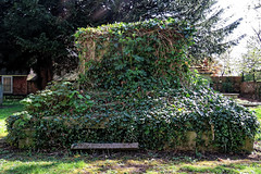 All Hallows Church Tottenham London England - churchyard chest tomb overgrown 2
