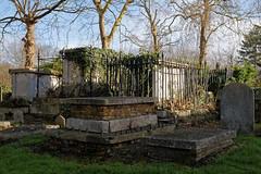 All Hallows Church Tottenham Haringey England - churchyard chest tombs 1