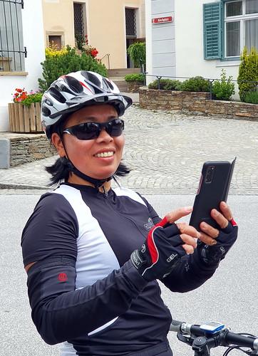 Ana biking near Stubenbergsee