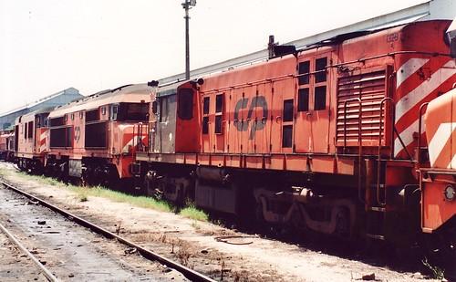 Diesel locomotives CP 1329, 1936 & 1802