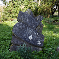 Benjamin Moran grave marker Church of St Mary and St Christopher, Panfield