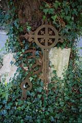 Arkesden Church of St Mary churchyard iron grave marker, Essex, England