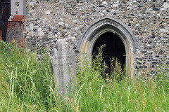 All Saints Church, Nazeing, Essex, England ~ door and stone from north
