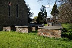 All Saints Church Masham tombs at High Laver Essex England 1