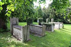 Church of Ss Mary & Lawrence - churchyard tombs at north