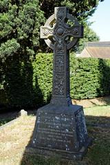 All Saint's Church Chillenden Kent England - churchyard memorial cross