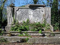 All Hallows Church Tottenham London England - churchyard chest tomb overgrown 9