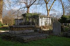 All Hallows Church Tottenham Haringey England - churchyard chest tombs 2