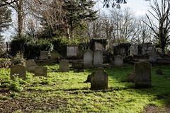 All Hallows Church Tottenham Haringey England - churchyard at north