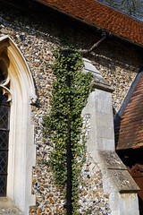 Abbess Roding - St Edmund's Church - Essex England - nave south buttress and drainpipe