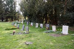 Abbess Roding - St Edmund's Church - Essex England - churchyard at west